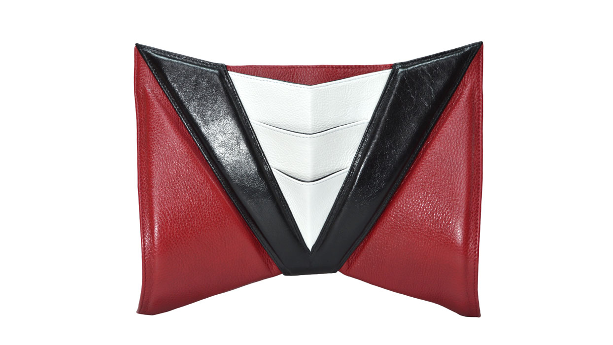 Helen space clutch bag